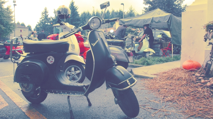 Another Vespa in a bikers' meeting on the Montello