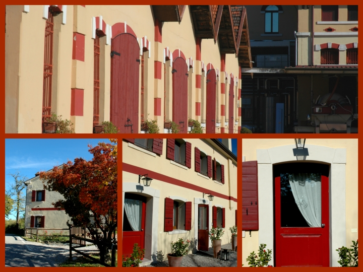 The red-striped-houses of the Earls of Collalto