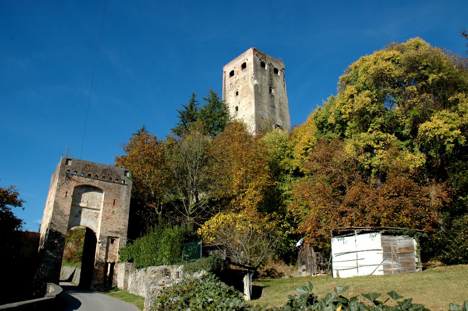 The ruins of the older Collalto Castle, in the village of Collalto
