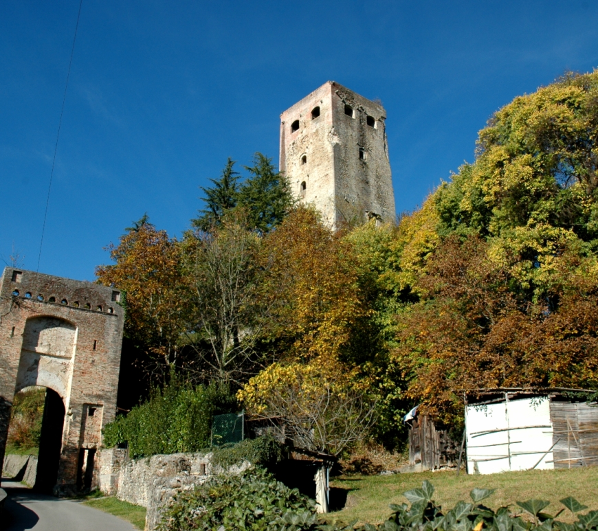 The ruins of the older Collalto Castle, in the village of Collalto