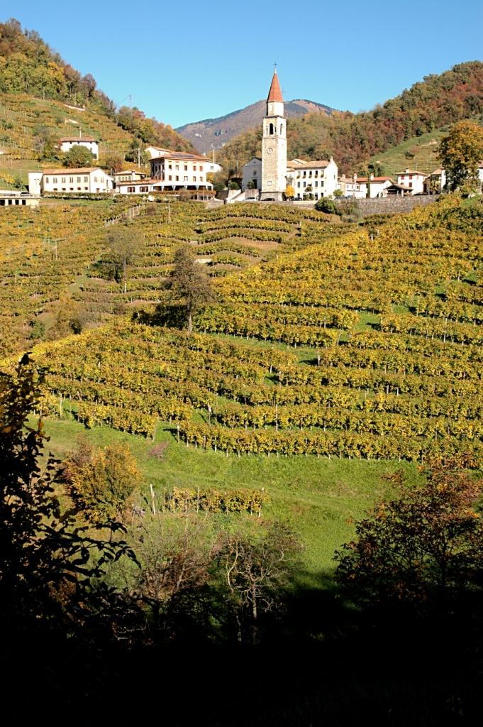 The village of Rolle in the DOCG Prosecco Conegliano