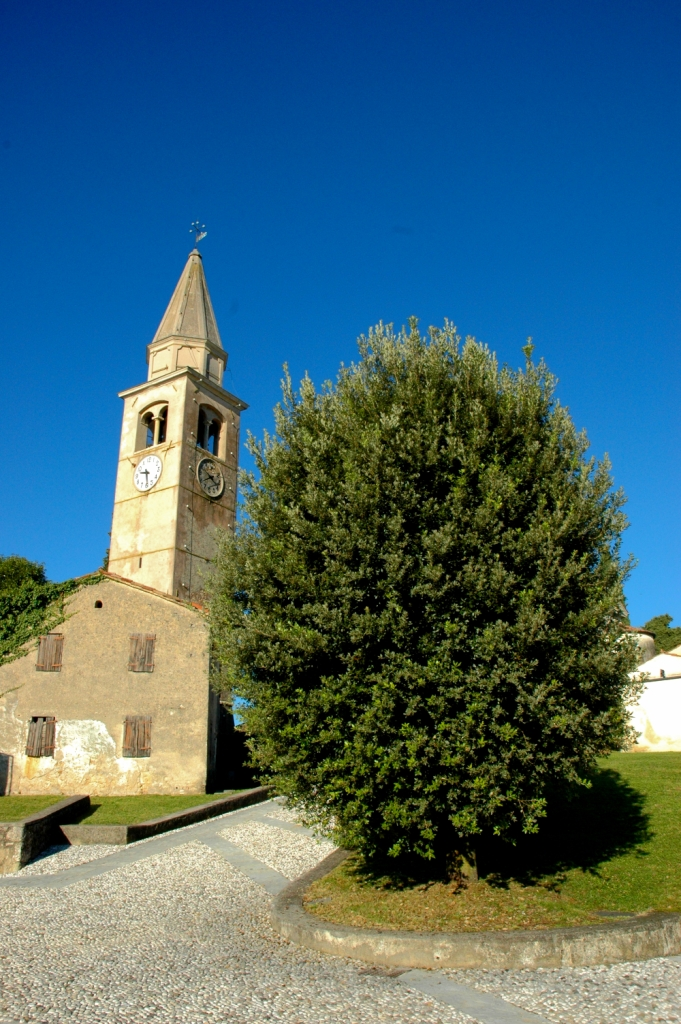 The medieval church of Pieve di San Pietro di Feletto