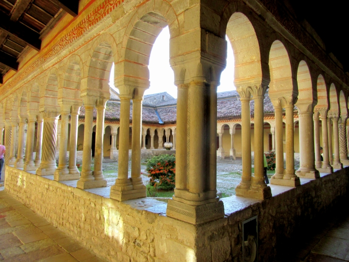 The cloister of the Abbey of Follina